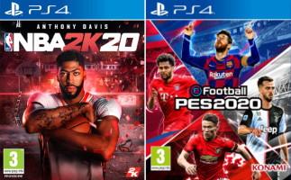 NBA 2K20 + eFootball PES 2020 (PS4)
