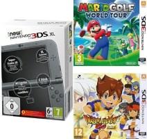 New 3DS XL noire + Mario Golf World Tour + Inazuma Eleven Go : Lumière