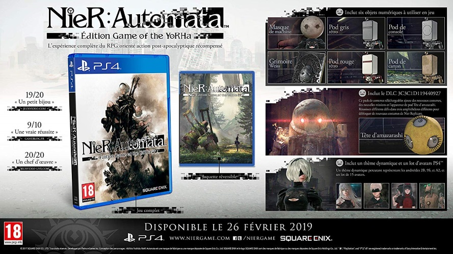 [2019-02-26] NieR: Automata édition Game of The YoRHa ps4 Nier-automata-edition-game-of-the-yorha-ps4-contenu