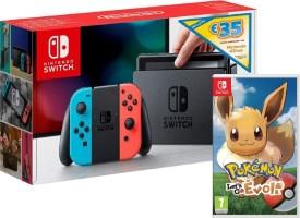 Pack Nintendo Switch avec 35€ de crédit eShop + Pokémon: Let's Go Evoli