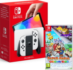Nouvelle Switch OLED blanche + Paper Mario: The Origami King