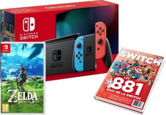 Nouvelle Switch avec joy-con néon + guide des jeux offert