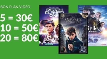 Promotion blu-ray : 5 pour 30€ / 10 pour 50€ / 20 pour 80€