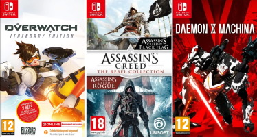 Overwatch: Legendary Edition + Assassin's Creed: The Rebel Collection + DAEMON X MACHINA (Switch)
