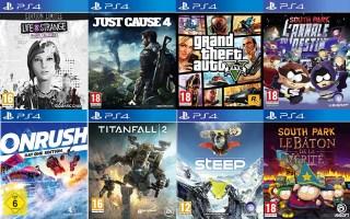 Pack de 8 jeux PS4
