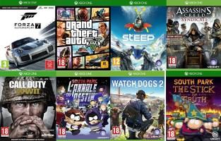 Pack de 8 jeux Xbox One
