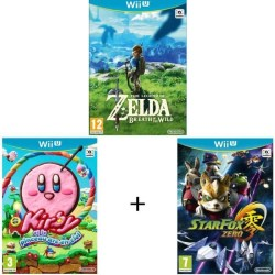 Zelda : Breath of the Wild + Kirby et le Pinceau Arc-en-ciel + Starfox Zero (Wii U)