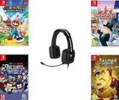 Pack de 4 jeux Switch + casque
