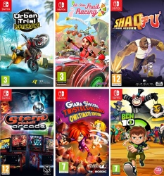 Pack de 6 jeux Switch