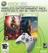 Manette Xbox 360 sans fil + 2 jeux : Fable 2 et Halo 3