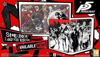 Persona 5 édition Day One avec Steelbook (PS4)