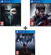 Prey + Dishonored 2 + Dishonored : La mort de l'Outsider (PS4)