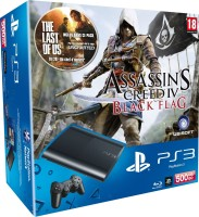 PS3 500 Go + Assassin's Creed 4 : Black Flag + The Last of Us