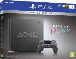"""PS4 Slim 1 To Steel Black édition limitée """"Days of Play"""""""