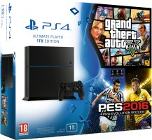 PS4 1 To + GTA V + PES 2016