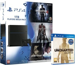 PS4 1 To + Uncharted 4 + Bloodborne + Heavy Rain & Beyond Collection + Uncharted Collection