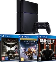 PS4 500 Go + Batman Arkham Knight + Destiny Le Roi des Corrompus + Call of Duty Black Ops 3