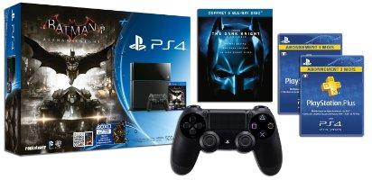 Console PS4 + Batman Arkham Knight + 2e manette + 6 mois de PS+ + Trilogie blu-ray The Dark Knight
