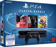 Console PS4 500 Go + DriveClub + The Last of Us Remastered + LittleBigPlanet 3