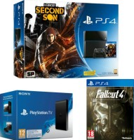 "PS4 pack ""InFamous Second Son"" + PlayStation TV + Fallout 4"