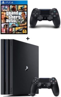 PS4 Pro 1 To + manette supplémentaire + GTA V
