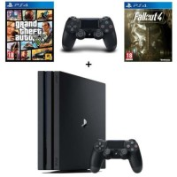 PS4 Pro 1 To + 2 manettes + GTA V + Fallout 4