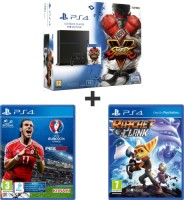 "PS4 1 To pack ""Street Fighter V"" + UEFA Euro 2016 + Ratchet & Clank"