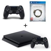 PS4 Slim 500 Go + 2 manettes + The Elder Scrolls Online