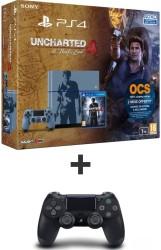 """PS4 1 To édition limitée """"Uncharted 4"""" + Dualshock 4 noir"""