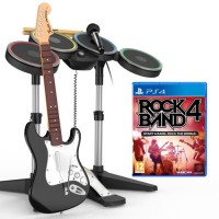 Rock Band 4 + Guitare, Micro et Batterie (PS4)