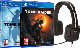 Shadow of the Tomb Raider + Rise of the Tomb Raider + Casque (PS4)