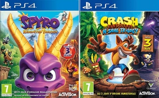 Spyro Reignited Trilogy + Crash Bandicoot N'Sane Trilogy (PS4)