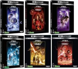6 films Star Wars (blu-ray 4K) pour le prix de 2