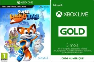 Super Lucky's Tale + Abonnement Xbox Live Gold 3 mois offert