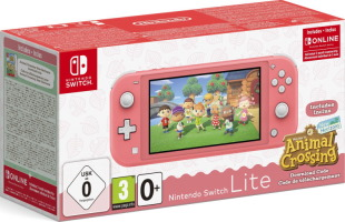 "Switch Lite corail pack ""Animal Crossing: New Horizons"""