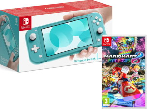 Nintendo Switch Lite turquoise + Mario Kart 8 Deluxe