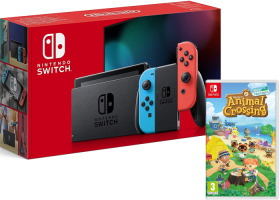 Nouvelle Nintendo Switch avec joy-con néon + Animal Crossing: New Horizons