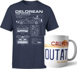 """T-shirt + mug """"Retour vers le futur"""""""