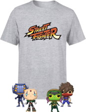 T-shirt Street Fighter + 4 Funko Pop