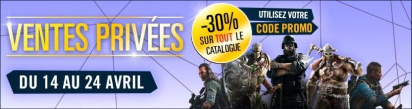 30% de réduction sur tout le shop Ubisoft