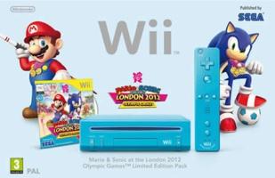 Console Wii bleue + Mario & Sonic aux Jeux Olympiques de Londres 2012