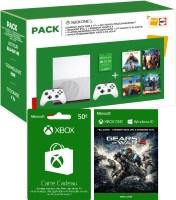 Xbox One S 1 To + 2 manettes + 4 jeux + 3 mois de Live + 50€ sur le Live