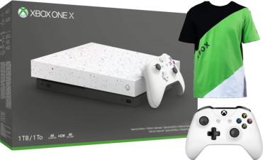 Xbox One X édition limitée Hyperspace + manette + t-shirt