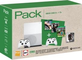 Xbox One S 1 To + 3 jeux + 1 blu-ray 4K