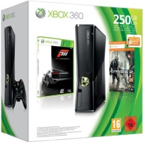 Console Xbox 360 250 Go + Forza motorsport 3 Ultime + Crysis 2 + 3 mois de Xbox Live Gold