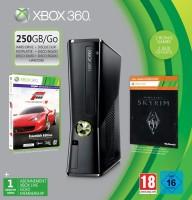 Console Xbox 360 250 Go + Forza motorsport 4 + The Elder Scrolls V : Skyrim