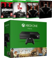 "Xbox One 1 To Pack ""Fallout 4"" + The Evil Within + Call of Duty Black Ops III + Wolfenstein : The New Order"