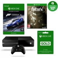 Xbox One 500 Go + Forza Motorsport 6 + manette supplémentaire + 3 mois de Xbox Live + 10€ sur le Xbox Store