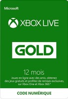 Abonnement Xbox Live Gold 12 mois (Xbox One, Xbox 360)