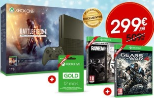 "Xbox One édition spéciale ""Battlefield 1"" + Gears of War 4 + Rainbow Six Siege + 12 mois de Xbox Live"